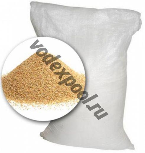 Песок кварцевый 25 кг. (фракция 0,4-1.2 мм)