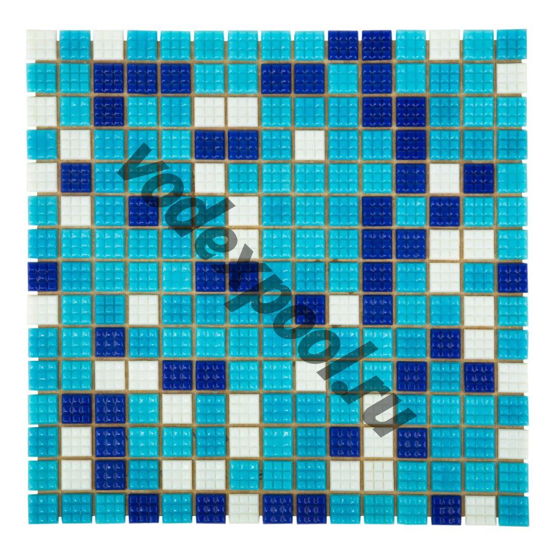 Мозаика стеклянная Aquaviva Bahama темная A20N(1)+A08N(2)+A07N(2)+C63N(5)