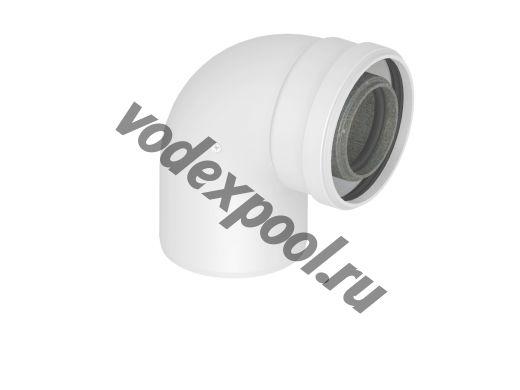 Колено подключения коаксиальное 60/100 с фланцем (VIESSMANN)