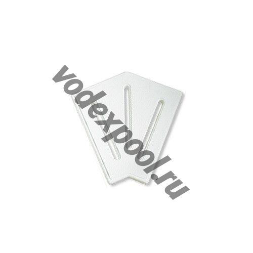 Угловой элемент AquaViva DK-20-2 Matt для переливной решетки 45° 190/25 мм (белый)