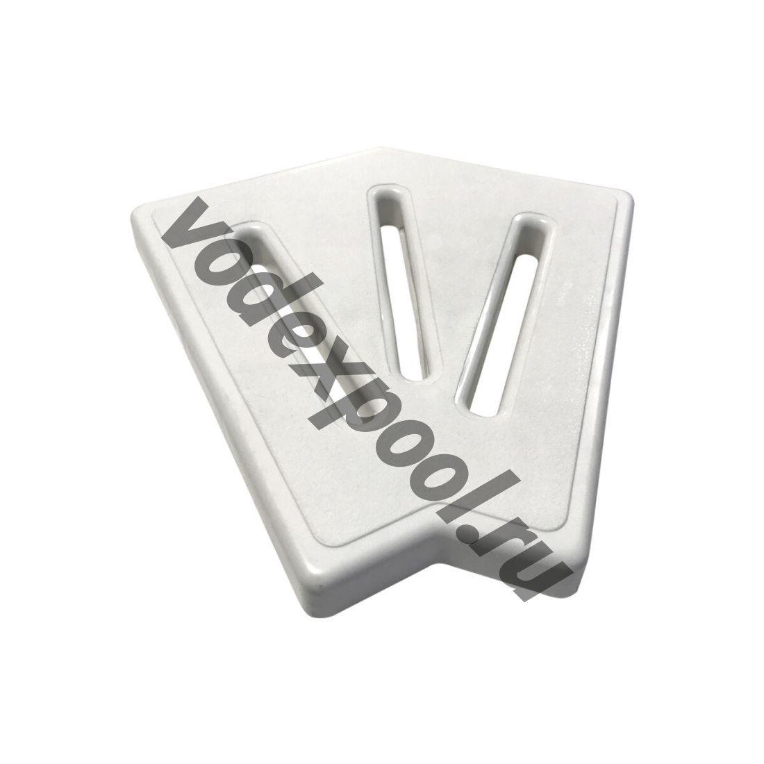 Угловой элемент Aquaviva Classic и Grift для переливной решетки 45° 245/25 мм (белый)
