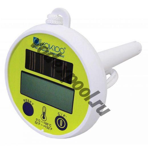 "Термометр плавающий ""Kokido"", цифровой на солнечных батареях."