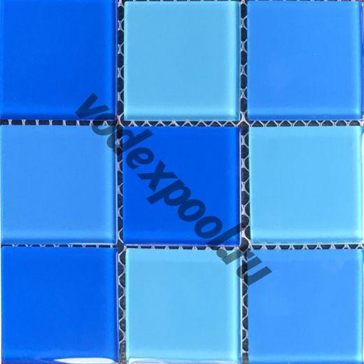 Мозаика стеклянная Aquaviva Cristall Light Blue (48 мм)