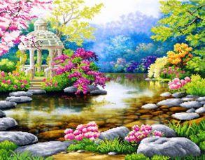 Алмазная мозаика «Очарование природы» 40x50 см