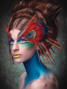 Алмазная мозаика «Амазонка в красках» 40x50 см