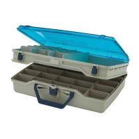 Рыболовный ящик для летней рыбалки Plano 1155 двухуровневый с прозрачной крышкой фото4
