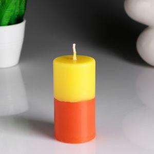 """Свеча- цилиндр """"Лимон- апельсин"""" ароматическая, 5,2?9,5 см 4852538"""