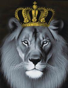 Алмазная мозаика «Лев с золотой короной» 40x50 см