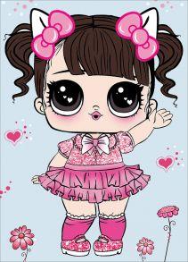 Алмазная мозаика «Малышка в розовом платьице» 17х22 см