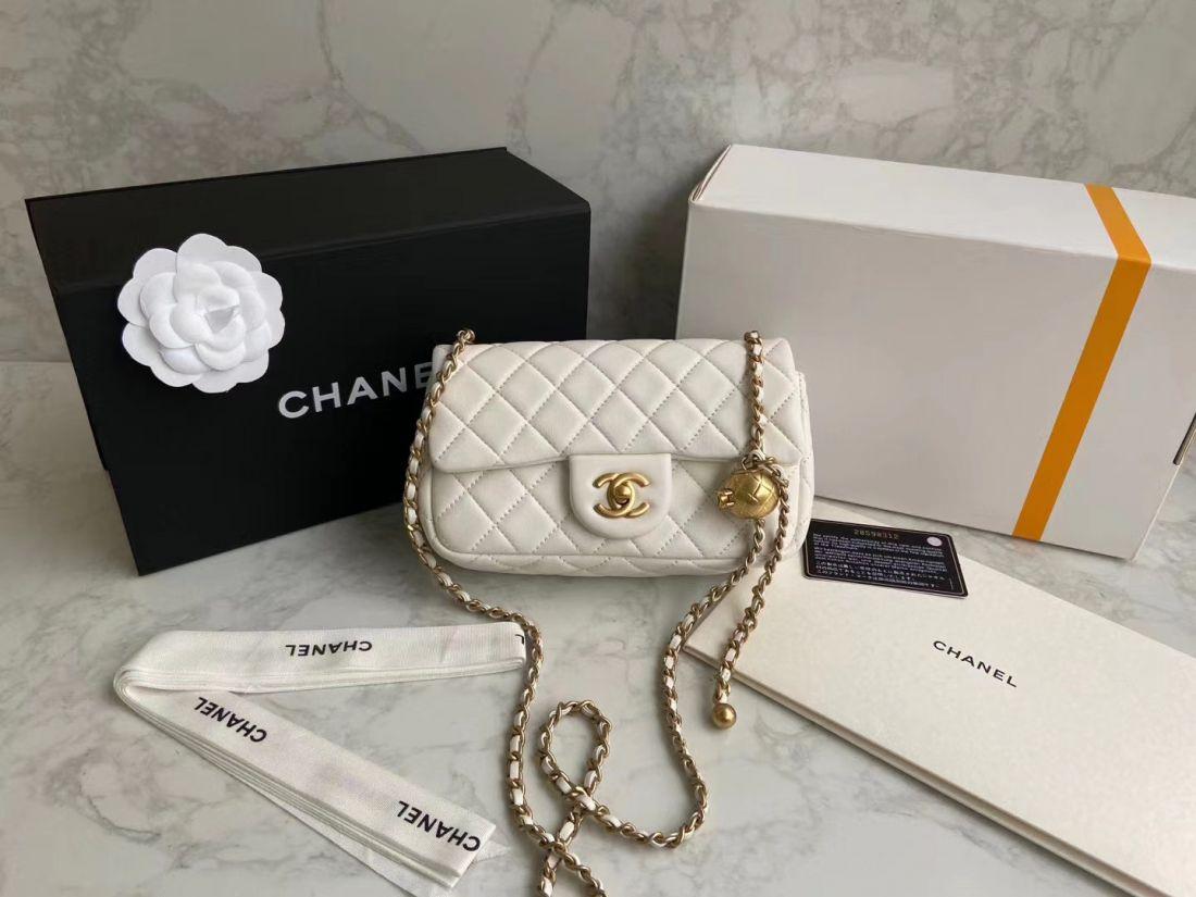 CHANEL Shoulder Flap Bag 20 cm