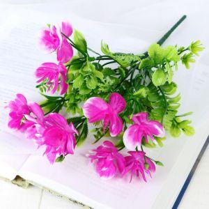 """Букет """"Цветы с папоротниковыми веточками"""" 27 см микс   4736448"""