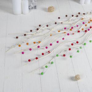 Декор тинги 150 см шарики бисер (цена за 1шт) микс   3792248