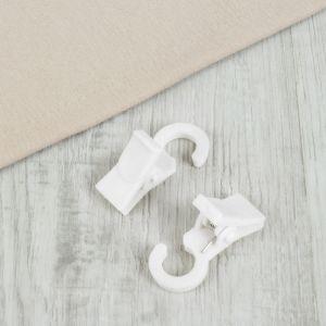 Зажим для штор, на кольцо, 3,5 ? 2 см, цвет белый