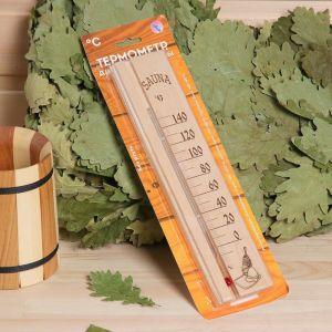 """Деревянный термометр для бани и сауны """"Sauna"""" в блистере, 2545535"""