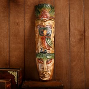 """Интерьерный сувенир маска """"Сова"""" 50х12х5 см   3728159"""