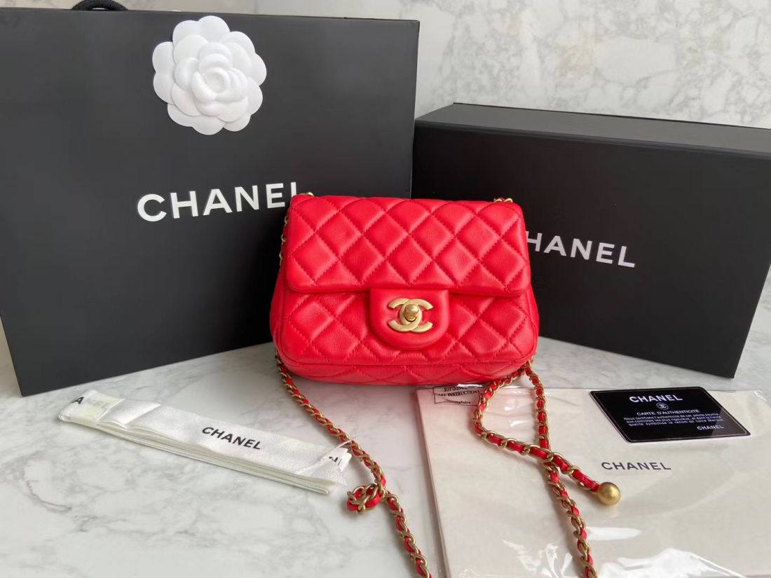 CHANEL Shoulder Flap Bag 18 cm