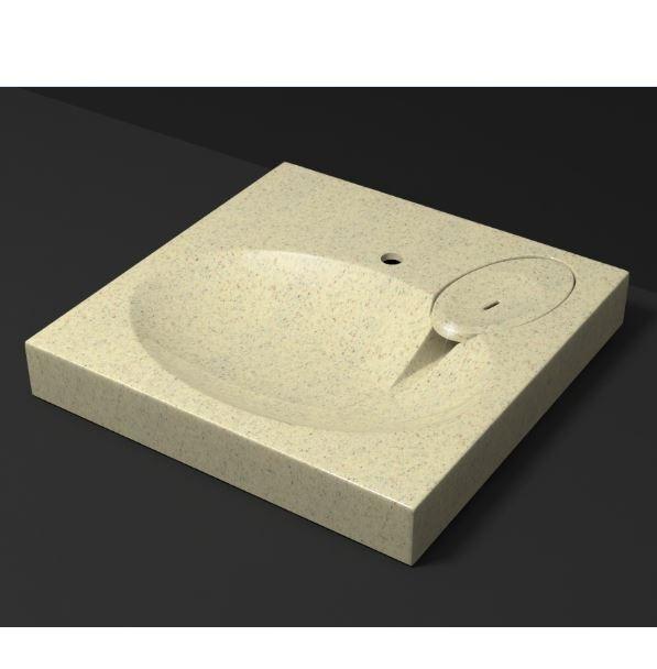 Раковина Мэйси V5Q6 Granit с кронштейном арт. П10685 MARR MARRBAX Д-595мм, Ш-595мм, Г-100мм