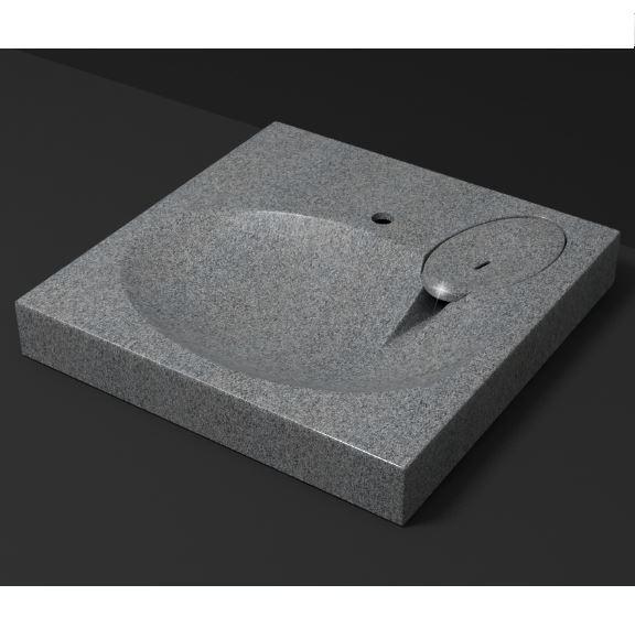 Раковина Мэйси V5Q8 Granit MARR MARRBAX с кронштейном арт. П10685 Д-595мм, Ш-595мм, Г-100мм