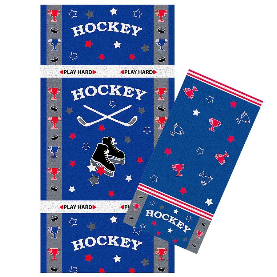 """Махровое полотенце """"Хоккей"""" рис.1154"""