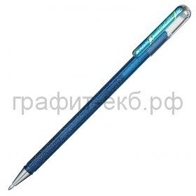 Ручка гелевая Pentel Hybrid Dual Metallic синий + зеленый металлик К110-DCX