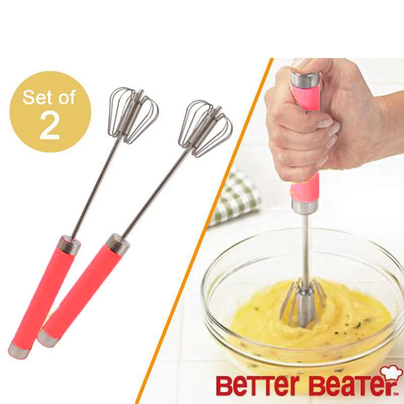 Ручной миксер венчик Better Beater 2 шт (цвет розовый)