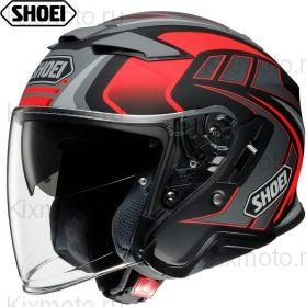 Шлем Shoei J-Cruise 2 Aglero, Серо-красный