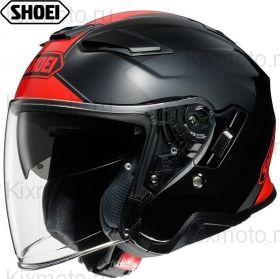 Шлем Shoei J-Cruise 2 Adagio, Чёрно-серо-красный