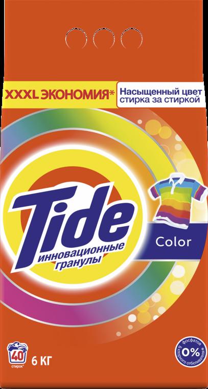 Стиральный порошок Tide Color автомат для цветного белья 6 кг