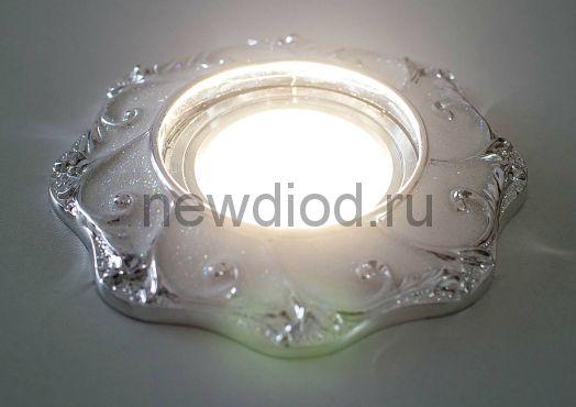 Светильник точечный OREOL Korona 3181 115/60mm под лампу MR16 Серебро