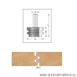 Концевая фреза для сращивания, для клеевого соединения 47 x 28 x 66 x 12 DIMAR 1490139