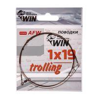 Поводок для троллинга Win 1х19 (AFW) Trolling 27 кг 80 см