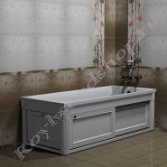 "Экран для ванны ""Руссильон PROVENCE раздвижной, белый"""