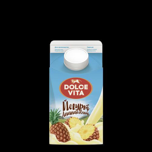 """Йогурт """"Дольче Вита"""" ананас 2,5% , 0,45л"""