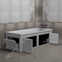 """Экран для ванны 150 см / 170 см """"Руссильон PROVENCE складной, белый"""" в открытом виде"""