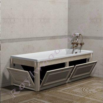 """Экран для ванны """"Челси-2 откидной, береза"""""""