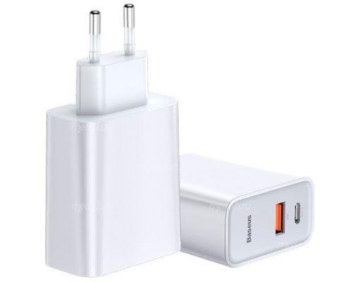 Сетевое зарядное устройство Baseus Speed PPS Quick Charger Type C (White) CCFS-C02