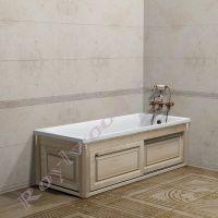"""Экран для ванной """"Челси-2 раздвижной, береза"""" 150-180 см"""