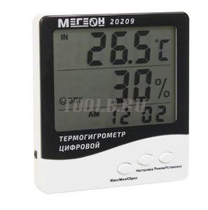 МЕГЕОН 20209 Цифровой настольный термогигрометр с выносным датчиком
