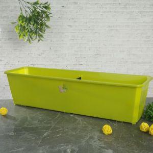 Ящик балконный 60 см, цвет салатовый