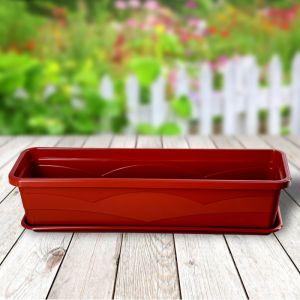 Ящик балконный 60 см, цвет терракот   4276724