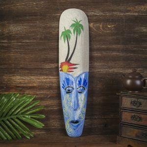 "Настенная маска ""На пляже"" дерево,песок  2,5х11х50 см   4165826"