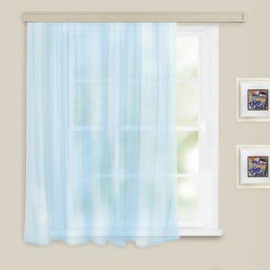 Штора вуаль однотонная 140х180 см голубой, п/э 100%   3749862
