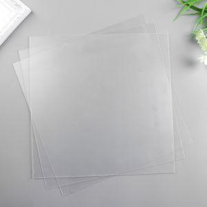 Лист пластика (прозрачный) 30х30 см (набор 3 шт.) 0,7 мм   4790506