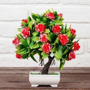 """Бонсай """"Деревце волнистые цветы"""" 10*24 см микс   4142813"""