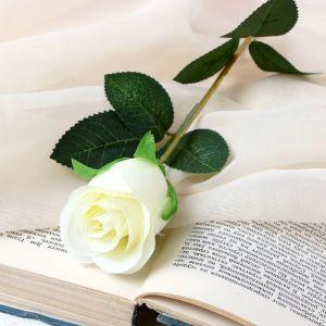 """Цветок искусственный """"Бутончик розы"""" 5х50 см белый   4738234"""