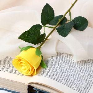 """Цветок искусственный """"Бутончик розы"""" 5х50 см жёлтый   4738233"""