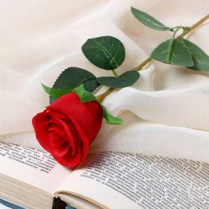 """Цветок искусственный """"Бутончик розы"""" 5х50 см красный   4738232"""