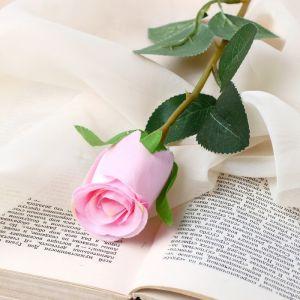 """Цветок искусственный """"Бутончик розы"""" 5х50 см розовый   4738231"""
