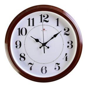 """УЦЕНКА Часы настенные круглые """"Классика"""", 35 см  коричневые Рубин микс 4413953"""