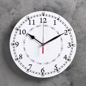 Часы настенные классика, круглые 24 см  микс 3640620